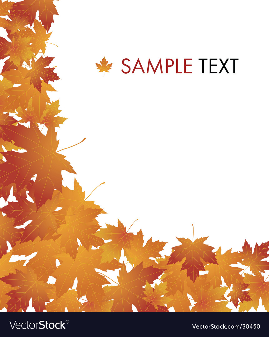 Autumn concept background vector