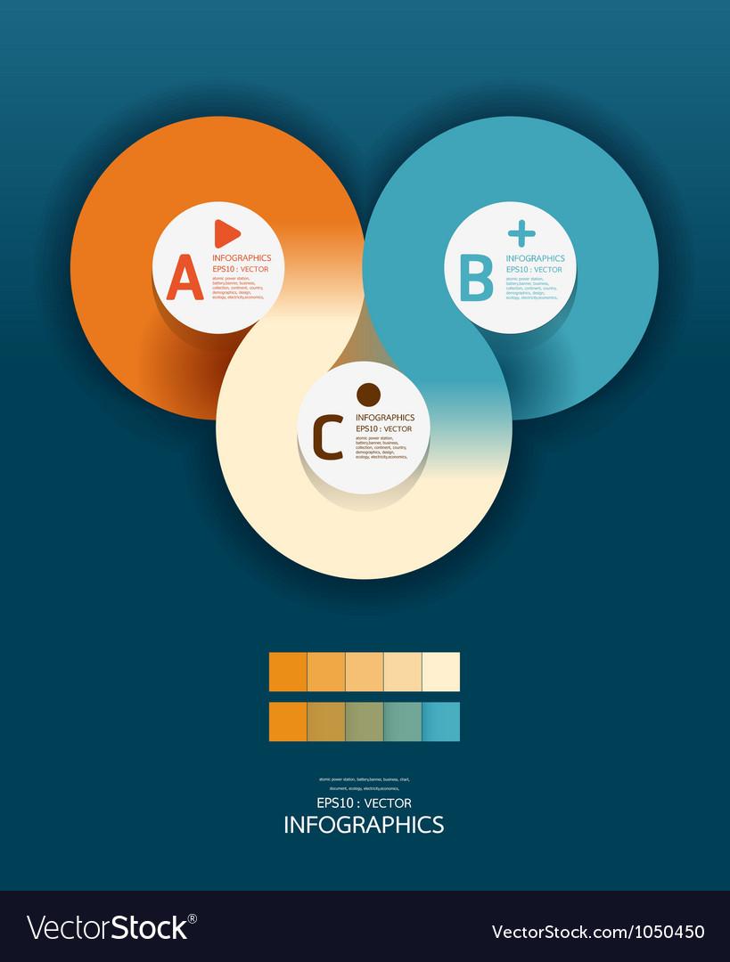 Modern circle design template vector