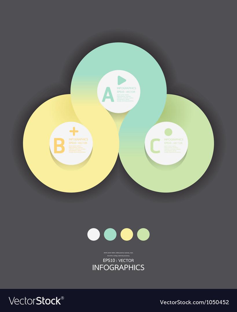 Modern circle design soft color template vector