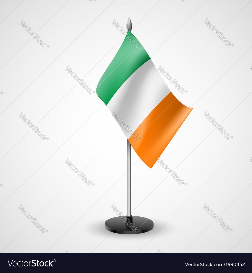 Table flag of ireland vector