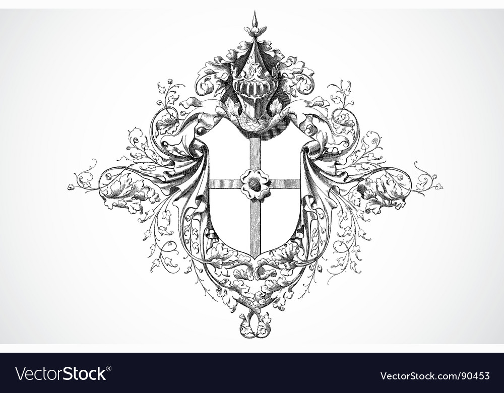 Royal ornament vector