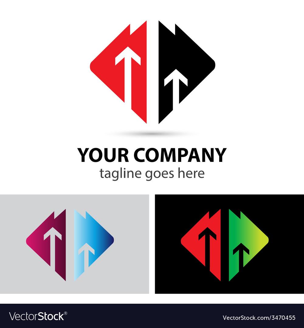 Arrows logo icon design elements success vector