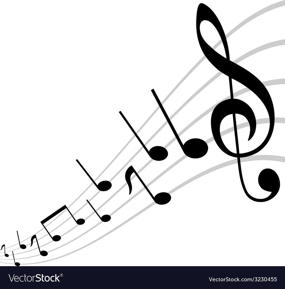Mirored musical theme vector