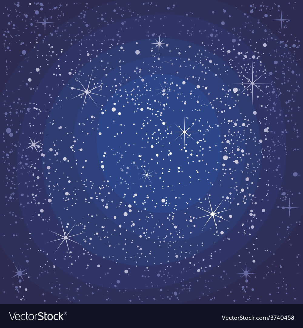 Starry night seamless pattern vector