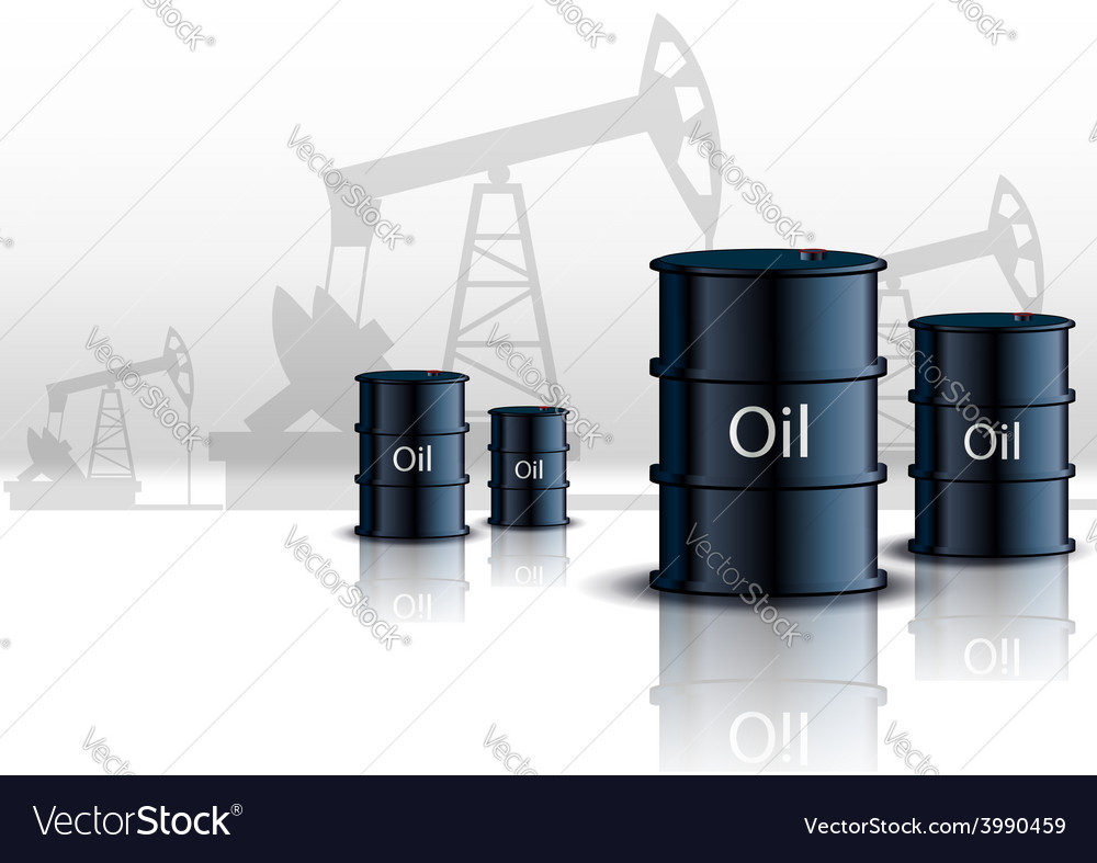 Oil pump oil rig energy industrial machine and vector
