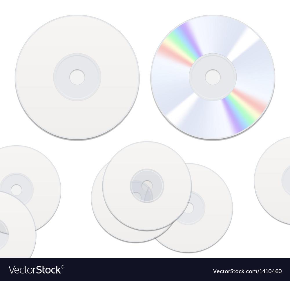 Dvd or cd disc vector