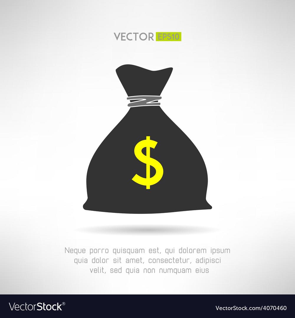 Simple money bag icon bank savings symbol concept vector