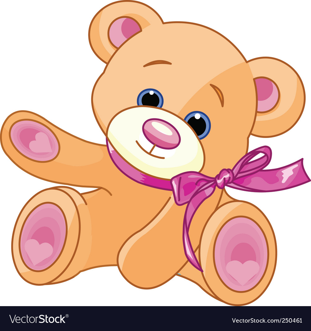 Teddy bear showing vector