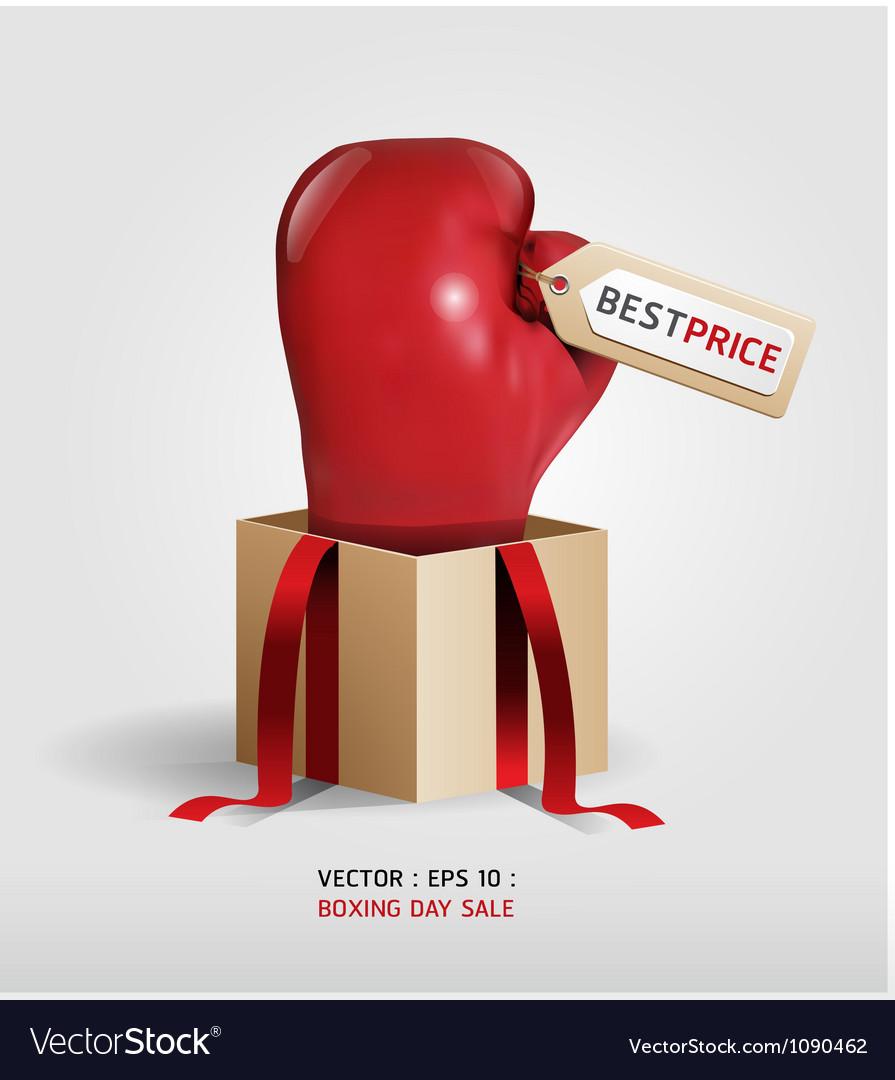 Boxing day shopping creative sale idea vector
