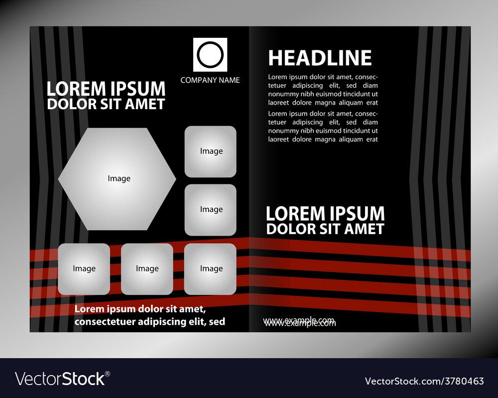 Empty brochure template design elements vector