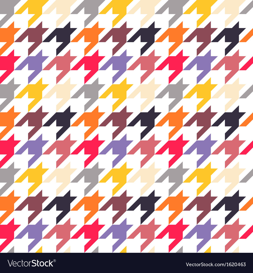 Houndstooth seamless pattern colorful vector