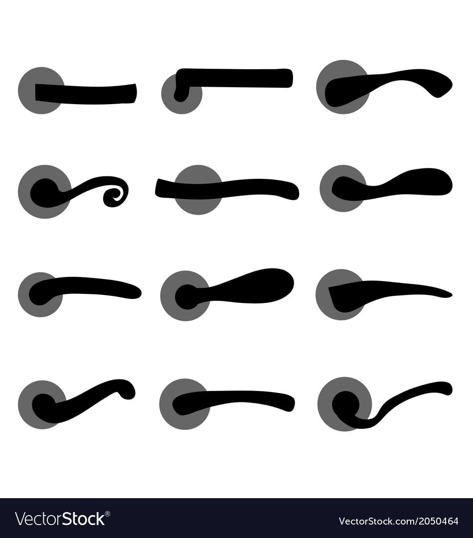 Door handles vector