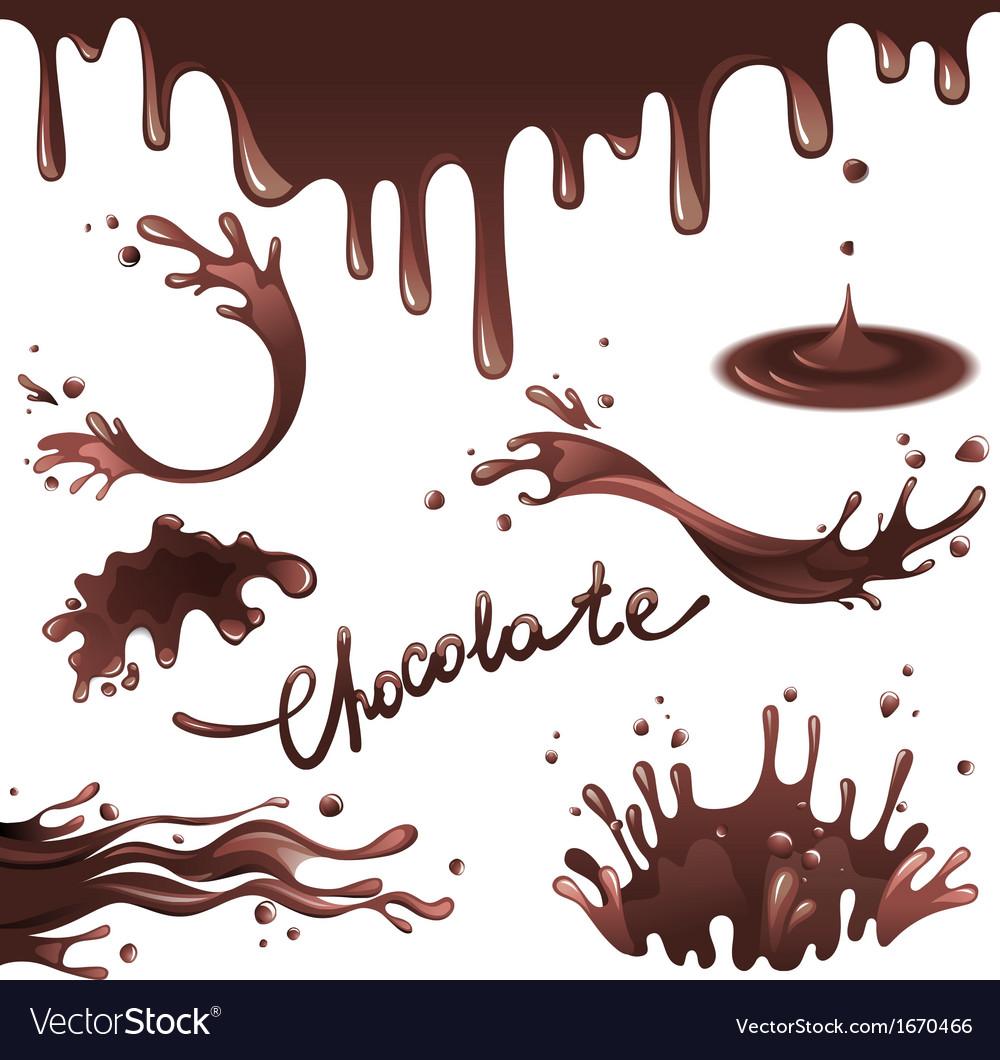 Chocolate splashes vector