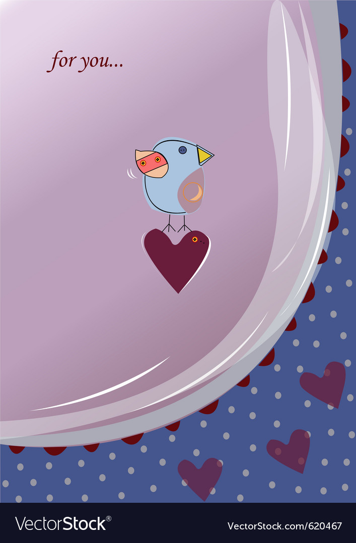 Valentines card vector
