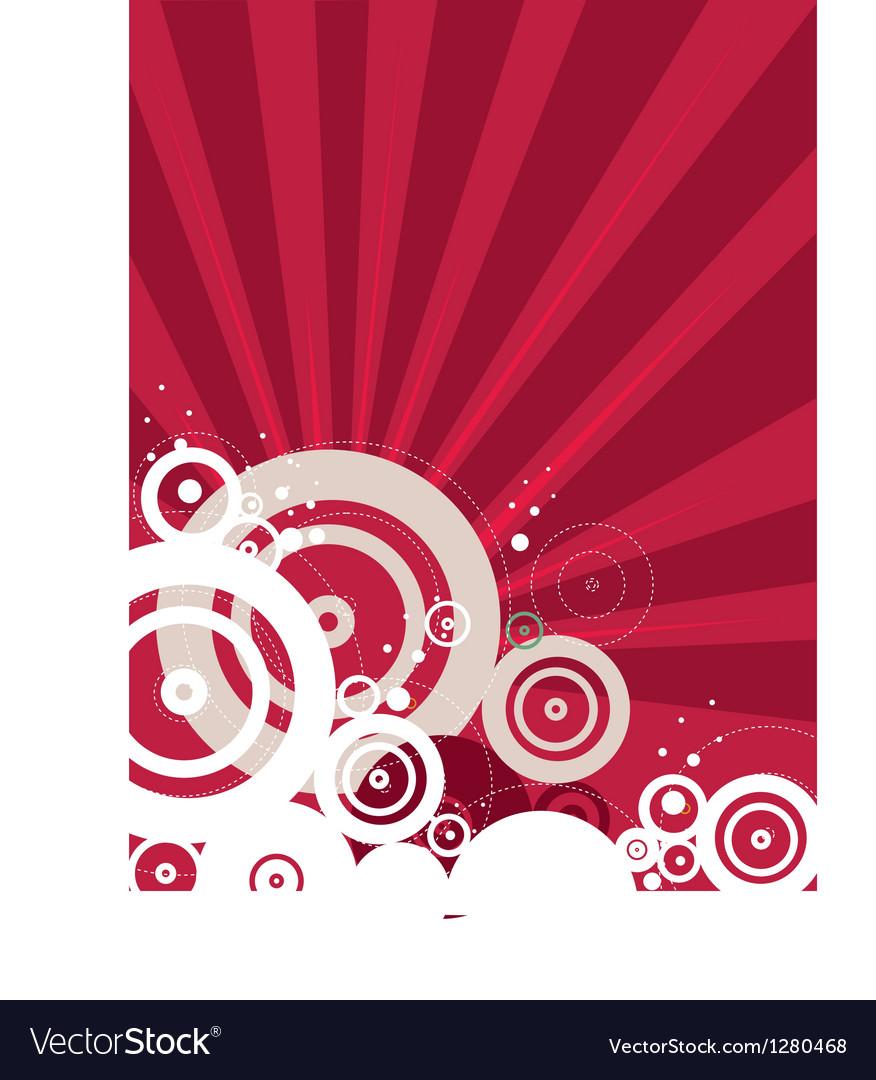 Retro red background vector
