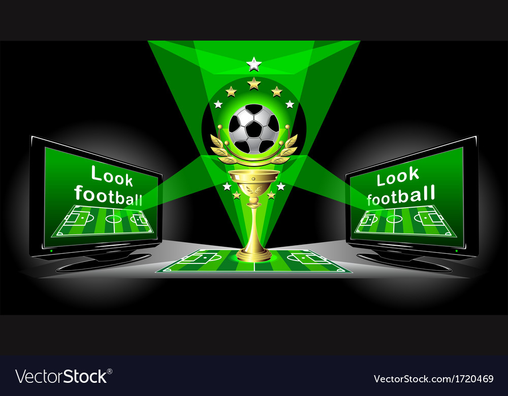 Poster for advertising football championship vector