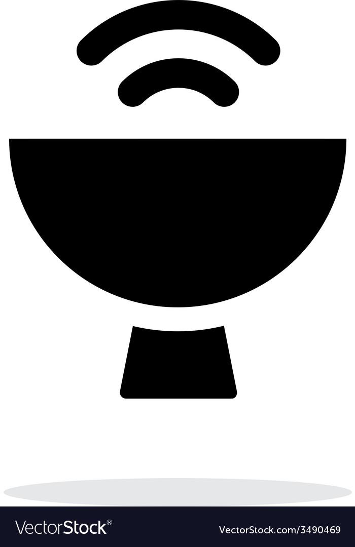 Satellite dish icon on white background vector