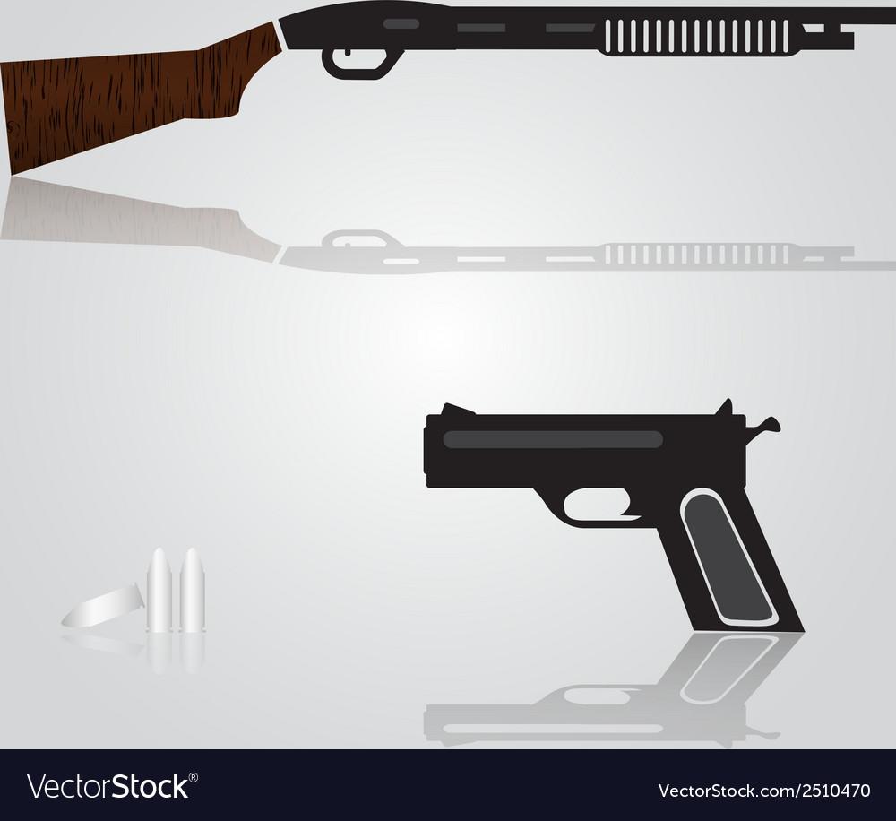 Pistol and shotgun weapons eps10 vector