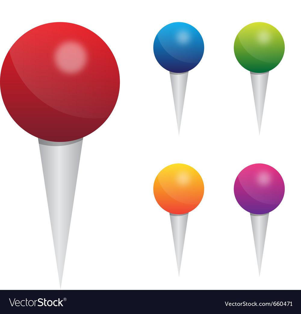 Push pin set vector