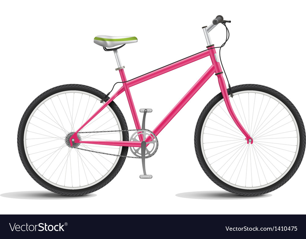 Pink bicycle vector