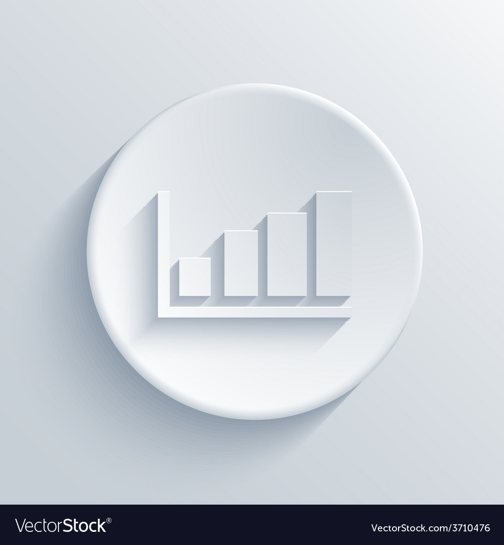 Modern graph light circle icon vector
