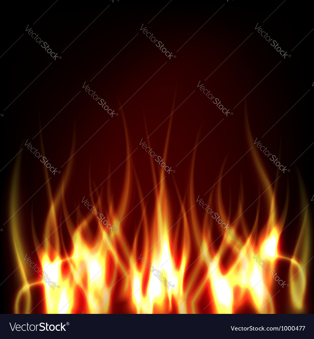 Realistic fire vector