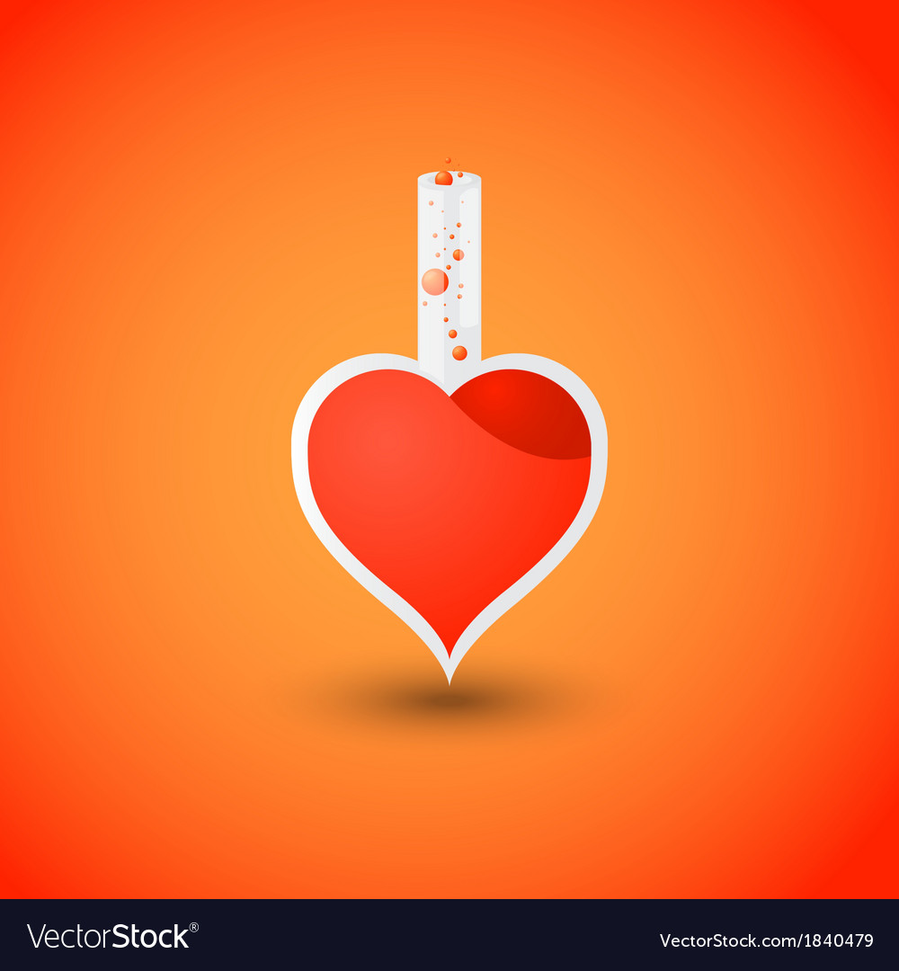 Valentines day heart love potion vector