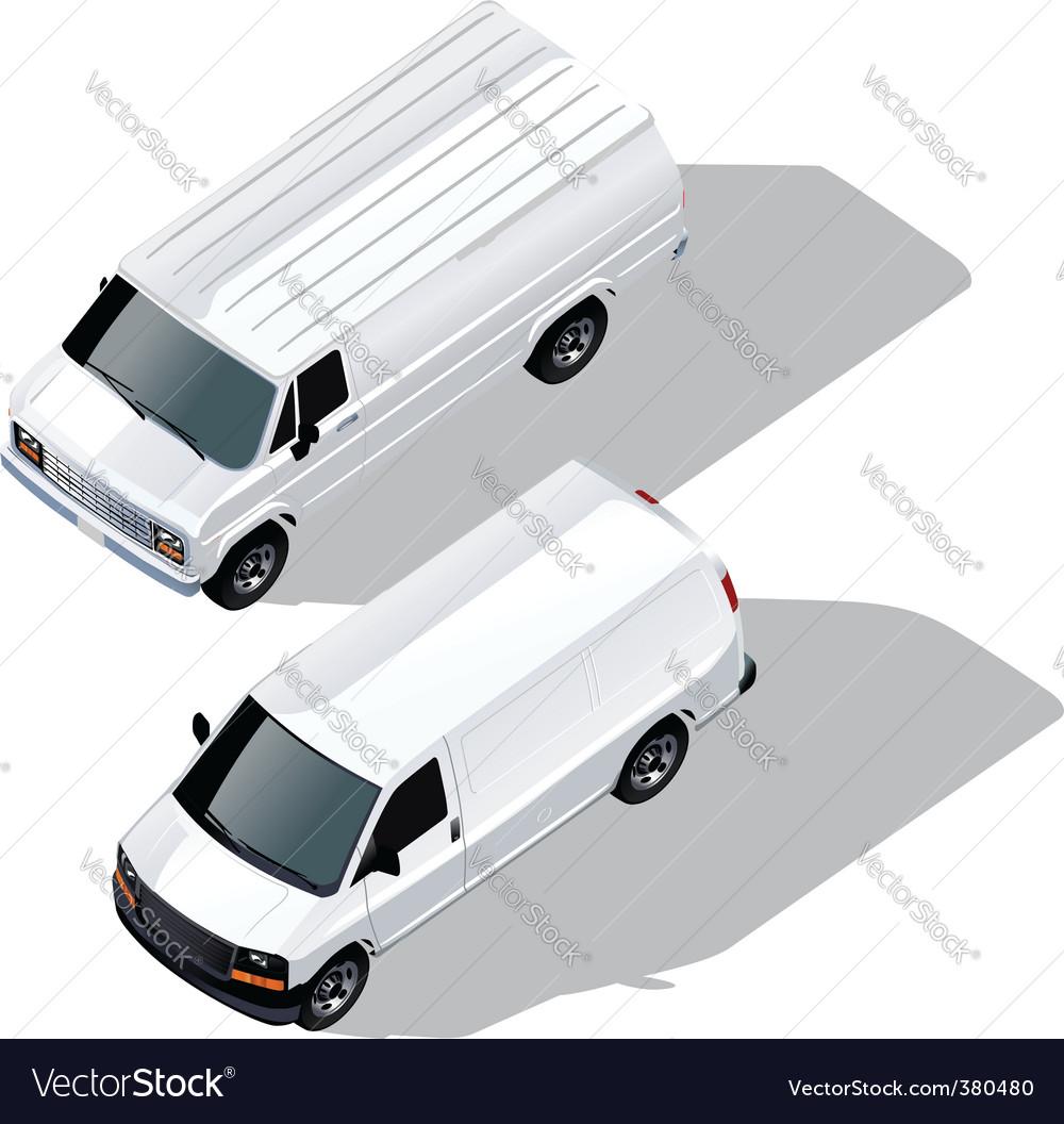 Delivery van isometric vector