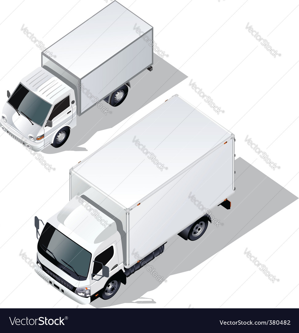 Delivery truck set vector