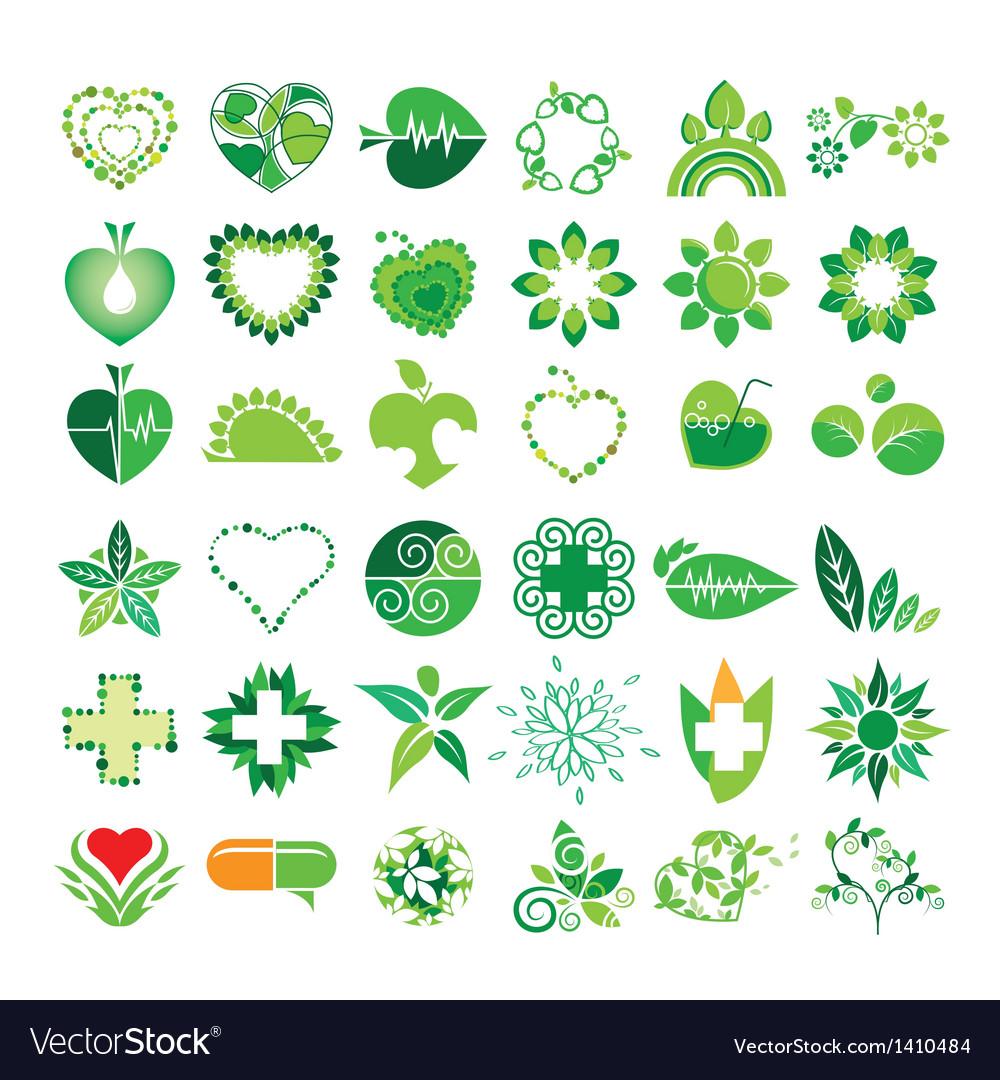 Collection of logos health vector