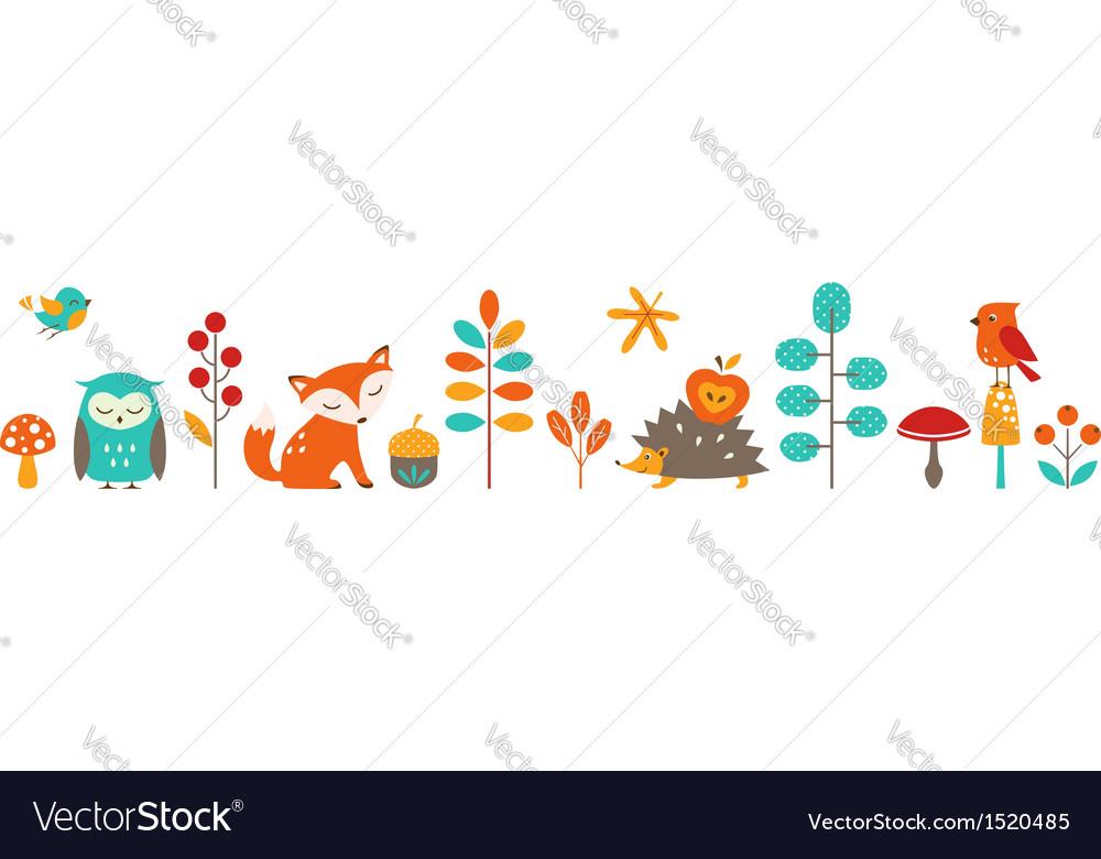 Cute autumn vector