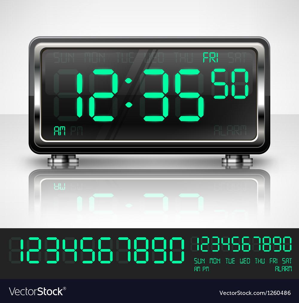 Digital watch on white vector