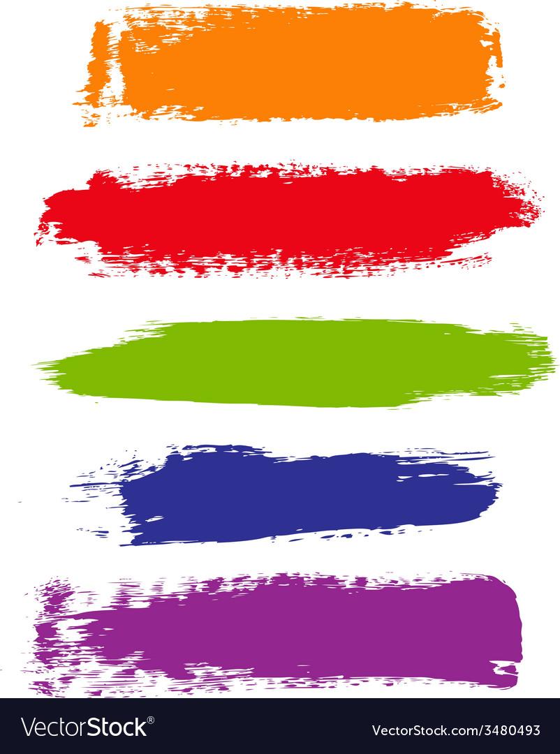 Color blots vector