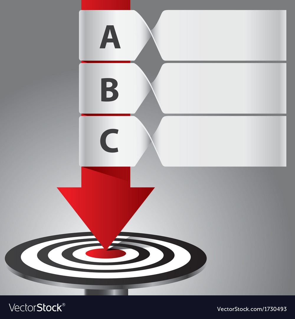 Target arrow banner infographic vector