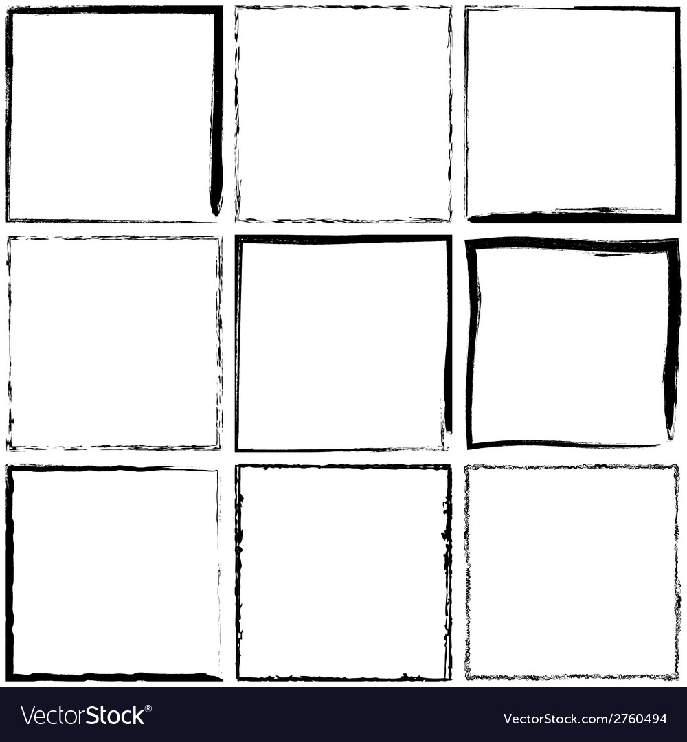 Simple grunge frames vector