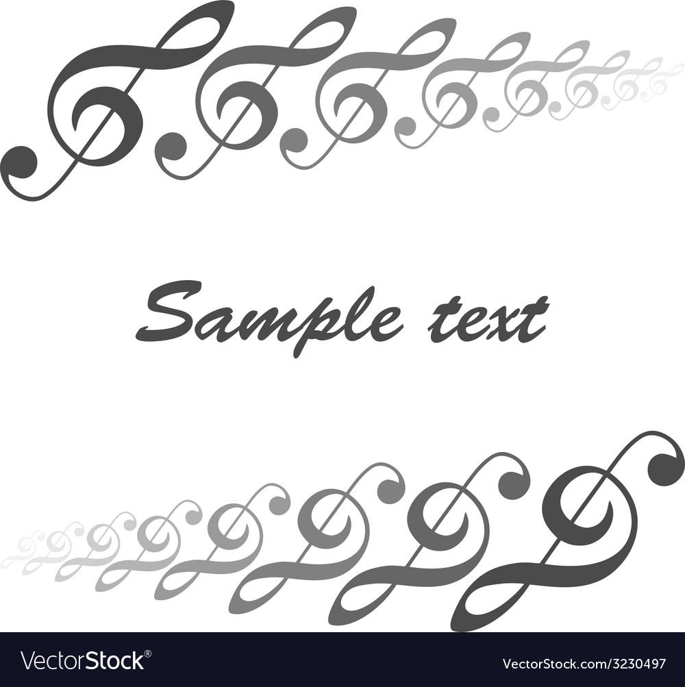 Musical theme vector