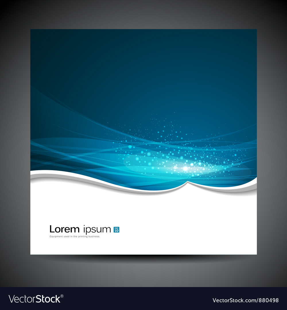Banners modern wave blue background vector