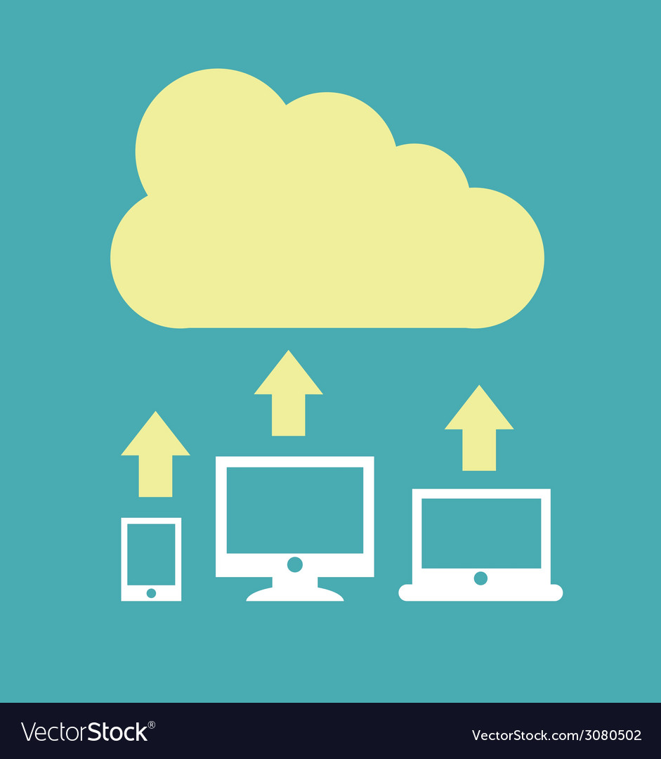 Cloud design vector
