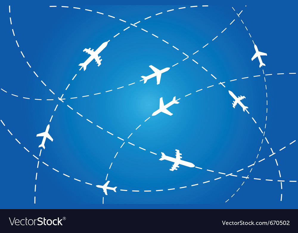 Flight path poster vector
