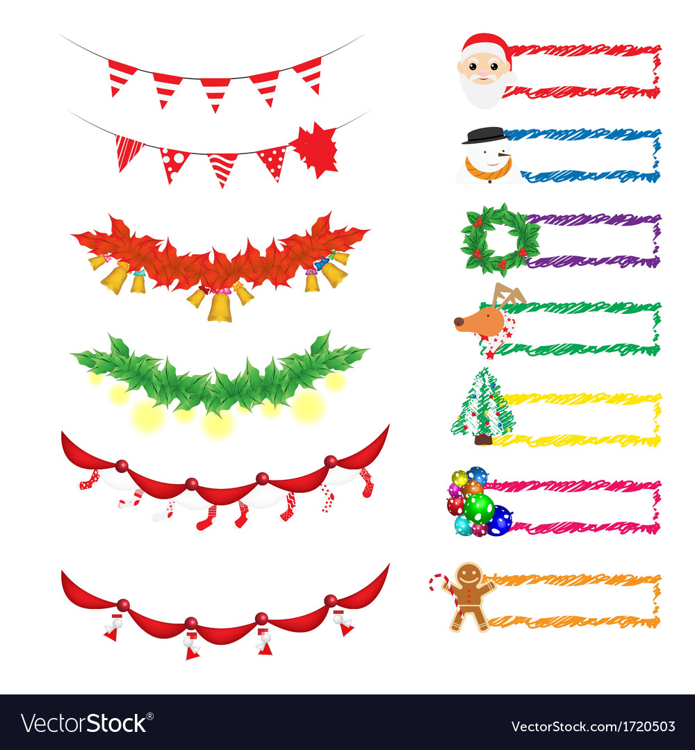 Christmas decoration 1 vector