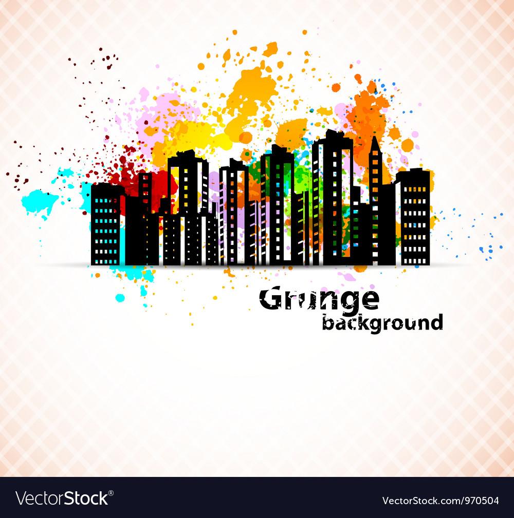 Urban grunge background vector