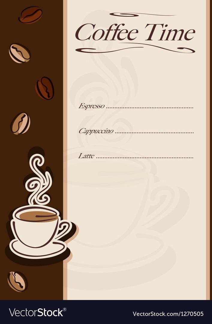 Cafe or restaurant card vector