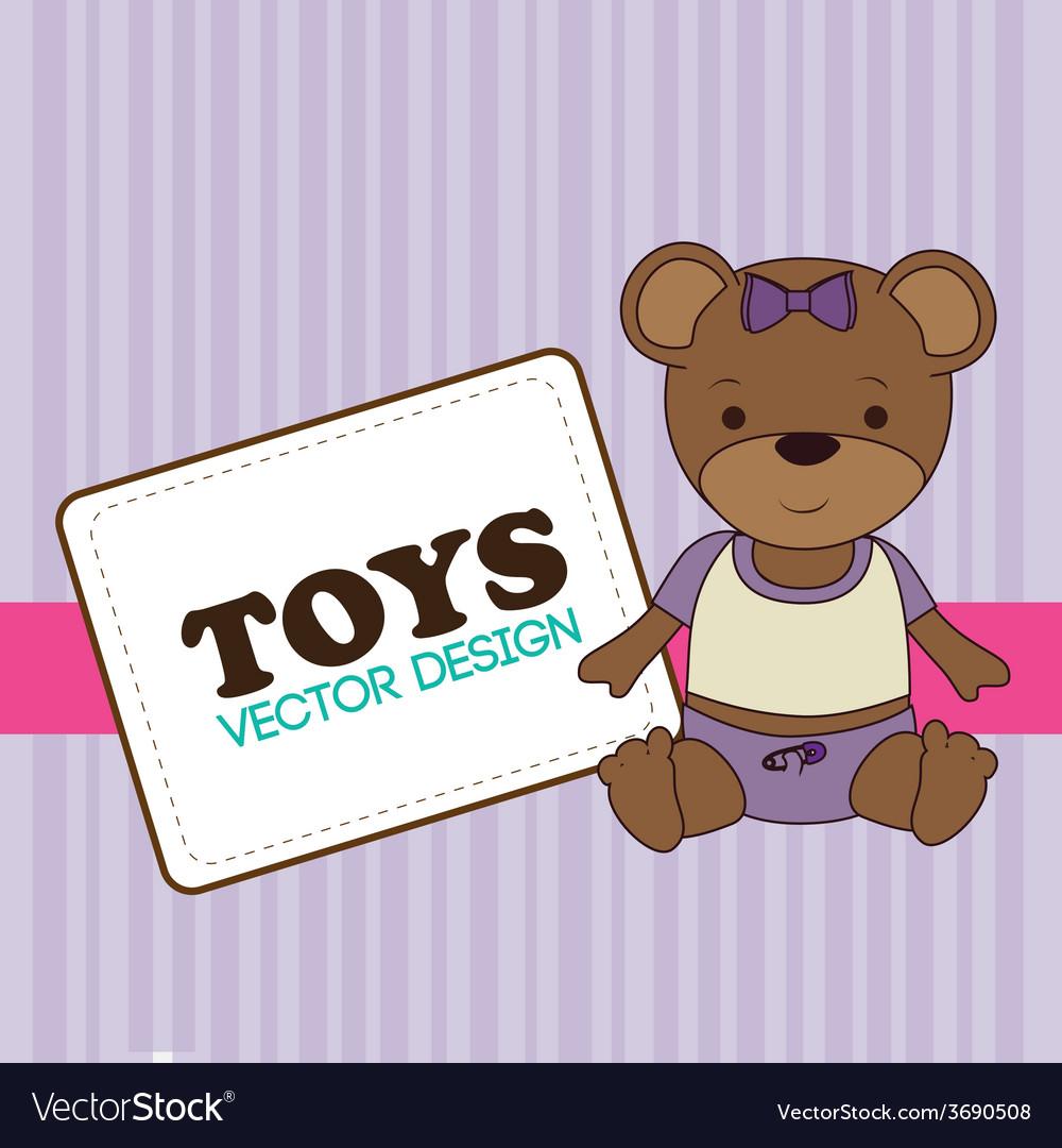 Toys design over purple background vector