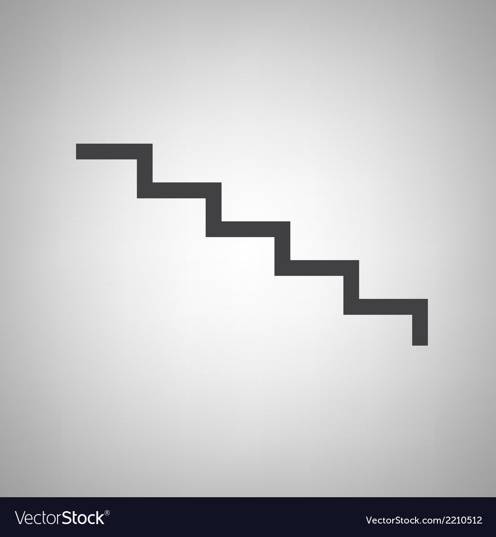 Staircase icon vector