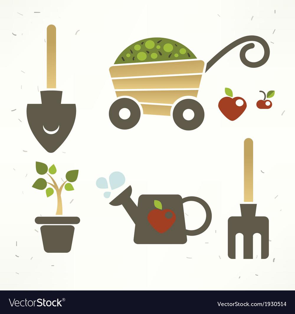 Garden collection vector