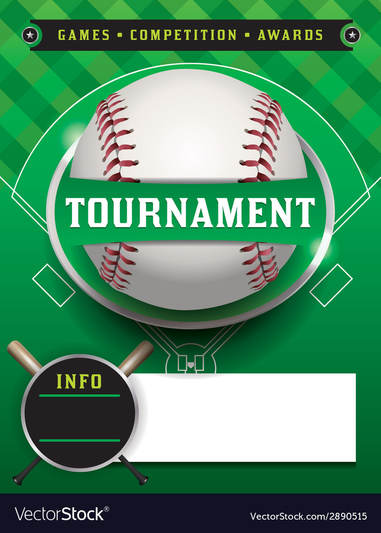 Baseball tournament template vector