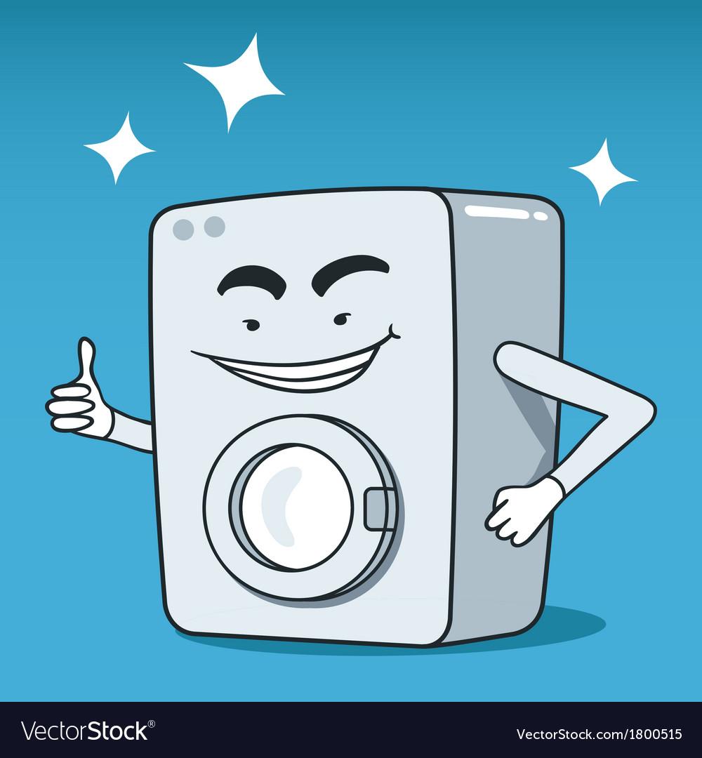 Washing machine character vector