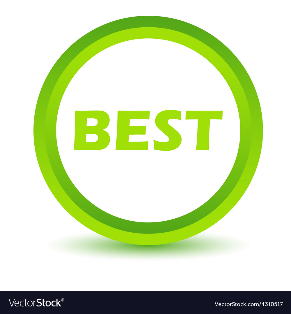 Green best icon vector