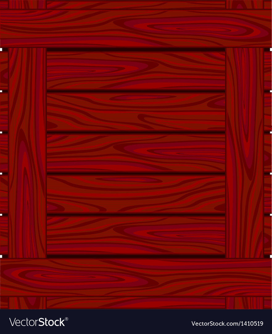 Background of red brown boards with wood grain vector
