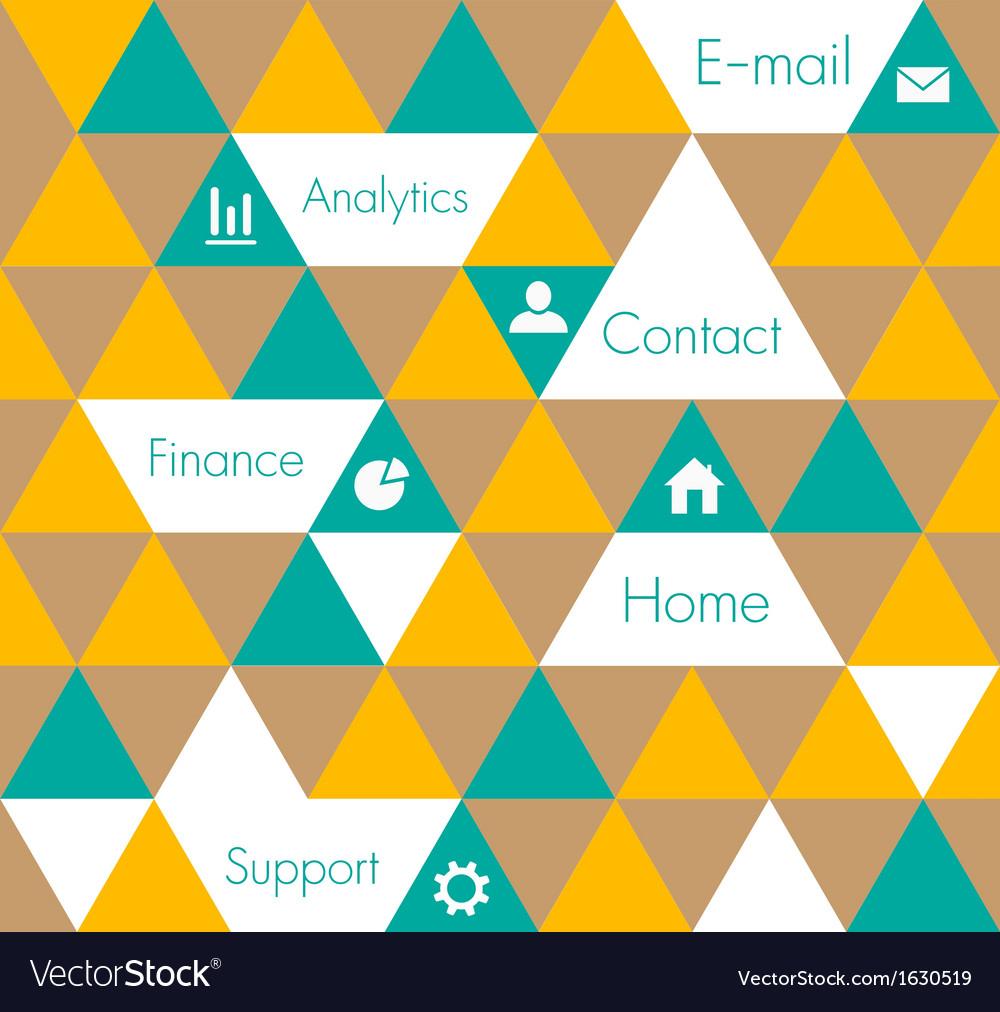 Geometric design template vector